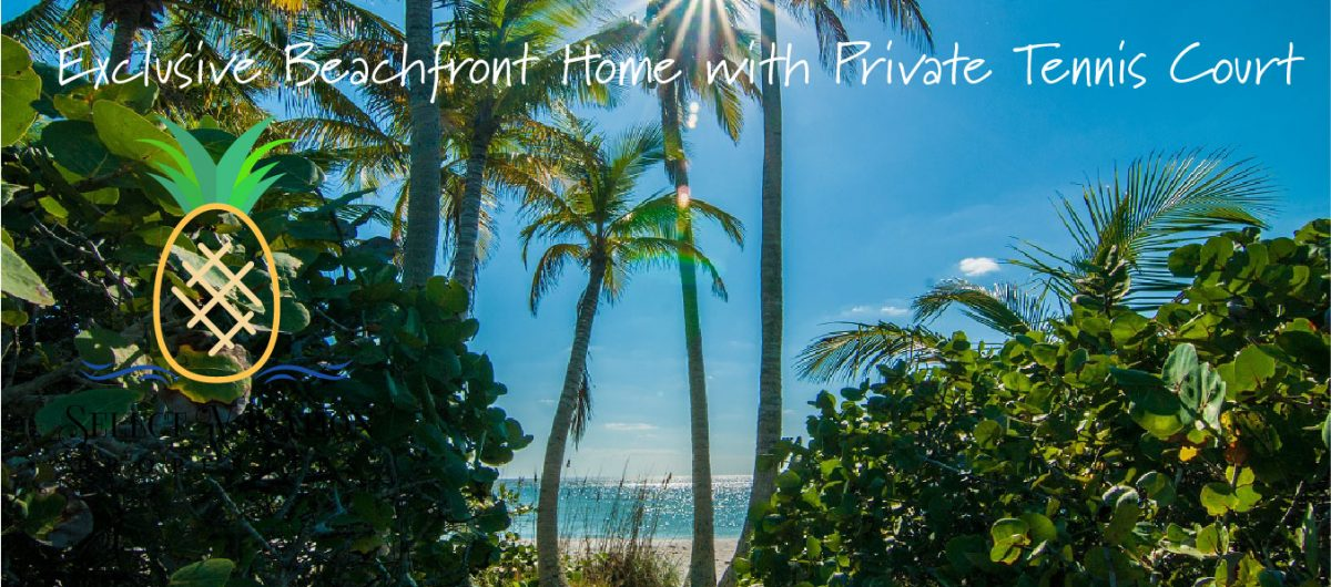 Beach front home with proivate tennis courts on Sanibel Island